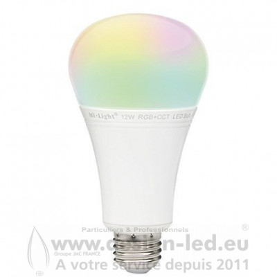 Ampoule LED RGB ET CCT 12W / E27 FUT105 MI LIGHT