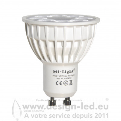 Spot LED GU10 RVB ET CCT 4W MI LIGHT - MIBOXER FUT103