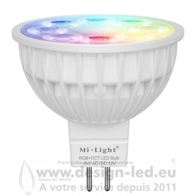 Spot LED MR16 RGB ET CCT 4W MI LIGHT - MIBOXER FUT104 20,50 €