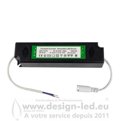 Driver Triac Dimmable Plafonnier Dalle LED Extra Plate 40W 880mA DESIGN-LED