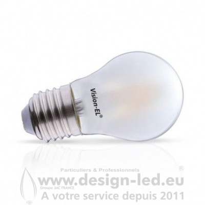 E27 LED G45 Filament Dépoli 4W Dimmable 2700K 520LM VISION EL 71364