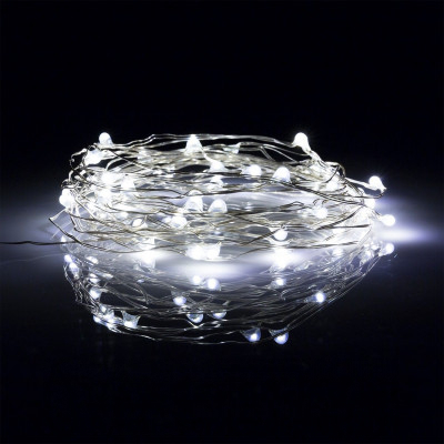 Guirlande de Fils de Fer LED Chromée 10ML DESIGN-LED C14759
