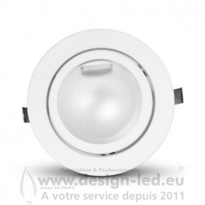 Support plafond Rond pour G4 Blanc Ø71 mm VISION 7730 5,30€