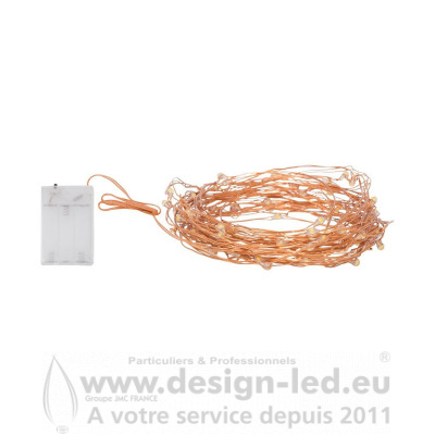 Guirlande de Fils de Fer LED OR ROSE 10ML DESIGN-LED C14758 14,60 €