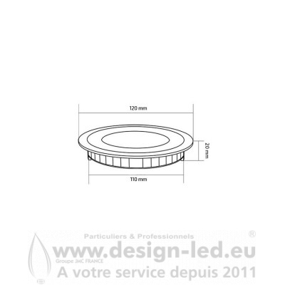 Dalle LED Ronde Extra-Plate 6W blanc CTT Ø 120 mm Design-led 2548 17,50 €