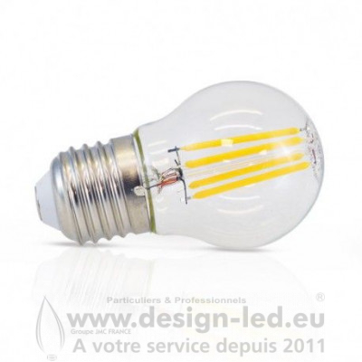 E27 LED G45 Filament 4W Dimmable 2700K 495LM