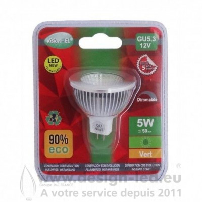 GU5.3 LED Spot 5W Dimmable Vert 75 VISION EL 78553 4,10 €