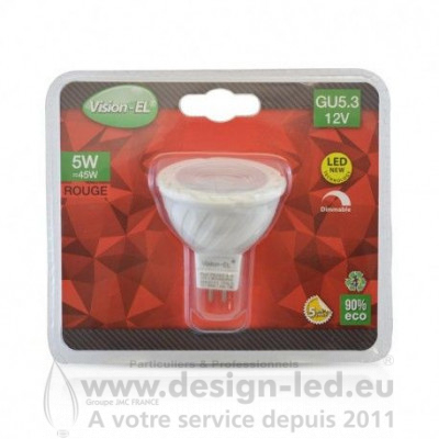 GU5.3 LED Spot 5W Dimmable Rouge 75 VISION EL 78552
