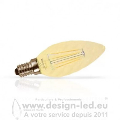 E14 Filament LED Torsardée GOLDEN 1W 2700K 90LM