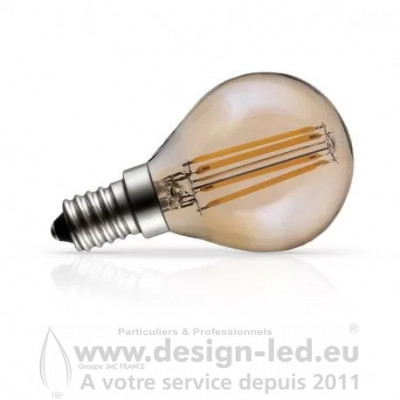 E14 Filament Golden LED Bulb P45 4W 2700K 440LM